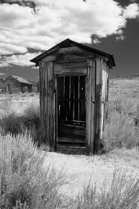 Outhouse in Ghost Town, Bodie, California by George Oze