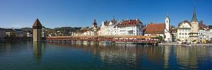 Panoramic View of Old Town Lucerne by George Oze