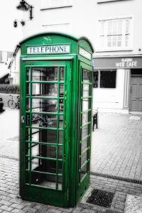 Phone Booth, Kinsale, Ireland by George Oze