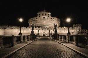 Quiet Night at Castle Sant Angelo, Rome, Italy by George Oze