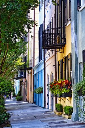 Rainbow Row III Charleston, South Carolina by George Oze