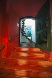 Red Doorway, Los Morillos Lighthouse, Puerto Rico by George Oze