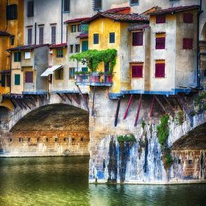 Small Balcony on Ponte Vecchio, Florence, Italy by George Oze