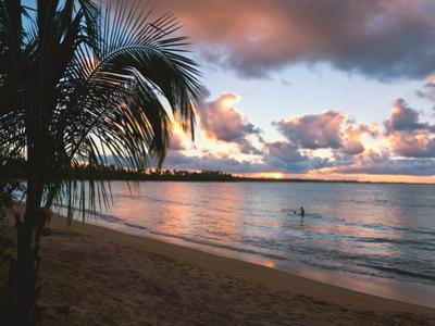Sunset, Vacia Talega Beach, Puerto Rico by George Oze