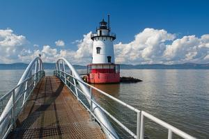 Tarrytown Lighthouse on the Hudson River by George Oze
