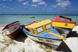 Three Fishing Boats Aruba by George Oze