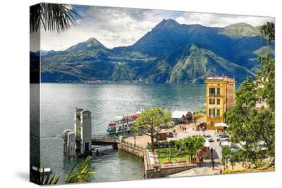 Varenna Harbor on Lake Como, Italy