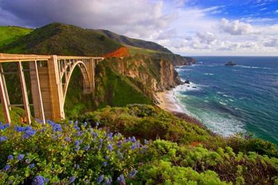 View Of The BIXby Creek Bridge, Big Sur, Ca by George Oze