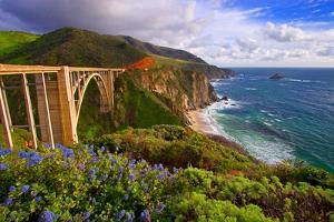 View Of The BIXby Creek Bridge, Big Sur, Ca by George Oze