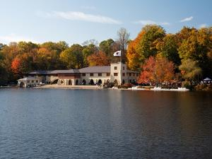 View of the Princeton Crew Boathouse, NJ by George Oze