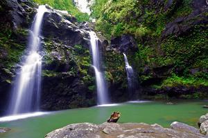 Waikamoi Falls On The Road To Hana by George Oze