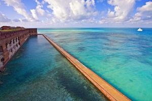 Walls Of Fort Jefferson Dry Tortugas Florida by George Oze