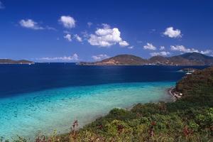 Waterlemon Bay Panorama St John Virgin Islands by George Oze