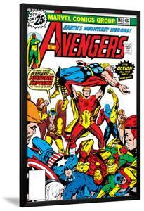 Avengers No.148 Cover: Iron Man, Captain America, Hyperion, Thor, Avengers and Squadron Supreme by George Perez