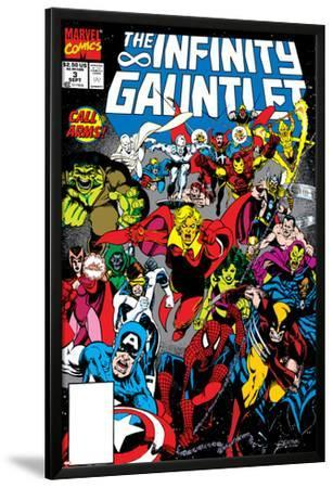 Infinity Gauntlet No.3 Cover: Adam Warlock by George Perez
