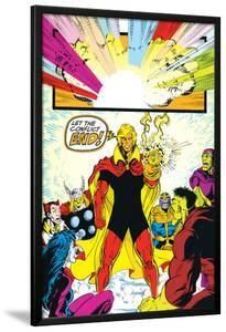 Infinity Gauntlet No.6 Group: Adam Warlock, Thanos, Thor and Hulk Fighting by George Perez