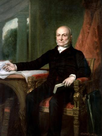 Official Portrait of President John Quincy Adams by George P.A. Healy, 1858