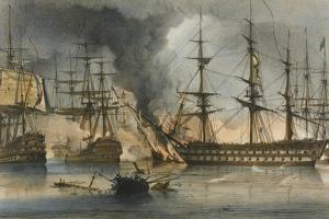 The Naval Battle of Navarino on 20 October 1827 by George Philip Reinagle