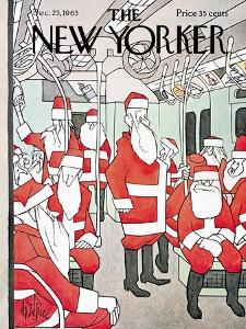 The New Yorker Cover - December 25, 1965 by George Price