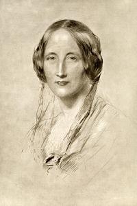 Elizabeth Gaskell, British 19th Century Novelist by George Richmond