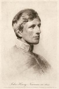 JH Newman, Richmond 1844 by George Richmond