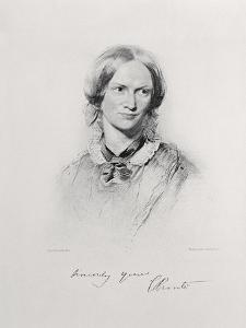 Portrait of Charlotte Bronte, Engraved by Walker and Boutall (Engraving) by George Richmond