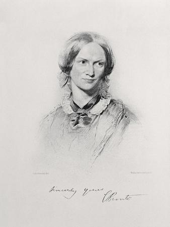 Portrait of Charlotte Bronte, Engraved by Walker and Boutall (Engraving)