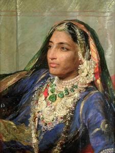 Portrait of Rani Jindan Singh, in an Indian Sari by George Richmond