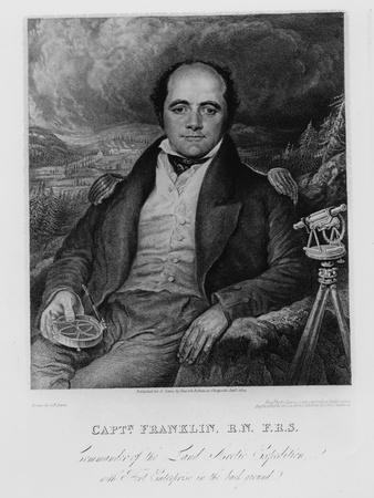 Portrait of Captain John Franklin (1786-1847) Engraved by Frederick Christian Lewis (1779-56) 1824