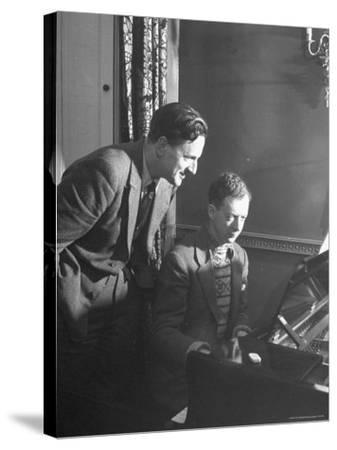 Benjamin Britten Rehearsing with Peter Pears