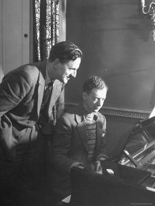 Benjamin Britten Rehearsing with Peter Pears by George Rodger