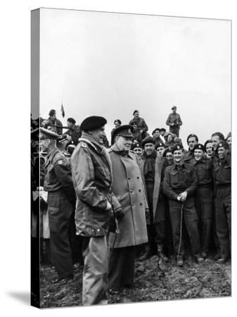English PM Winston Churchill and British Army General Bernard Montgomery