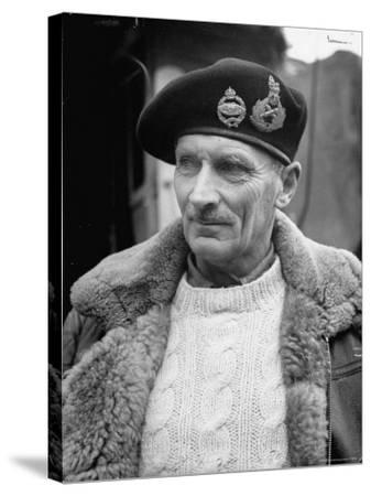 General Bernard L. Montgomery, in Command of British 8th Army During Drive Through Italy