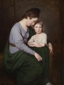 Ann Wilson with Her Daughter, Sybill, C.1776-77 by George Romney