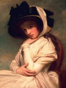 Emma Hart, Later Lady Hamilton, in a Straw Hat, C.1782-94 by George Romney