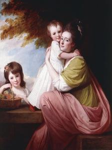 Group Portrait of Dorothy Stables and Her Daughters by George Romney