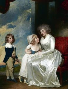 Henrietta, Countess of Warwick, and Her Children by George Romney