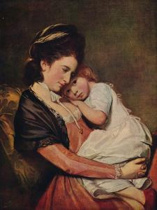 'Mrs Johnstone and her Son (?)', 1775-1780, (c1915) by George Romney