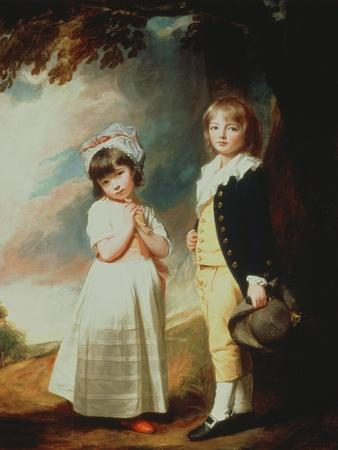 Portrait of Edward Stanley (D.1851) 13th Earl of Derby, with His Sister, Lady Charlotte Stanley