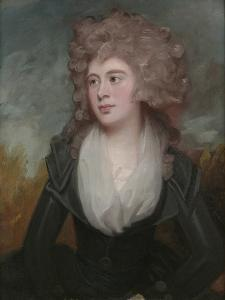 Portrait of Mary Macdonnell Chichester in an Original Frame by the Artist by George Romney