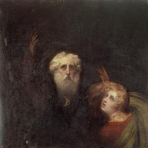 Prospero and Miranda, Fragment from 'The Tempest', C.1790 by George Romney