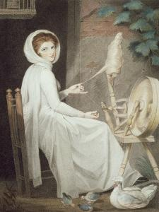 The Spinster by George Romney