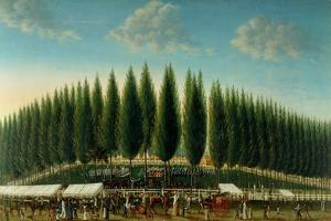 Salem Common on Training Day, 1808 by George Ropes