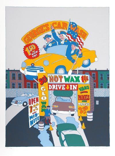 George's Car Wash-Seymour Chwast-Limited Edition