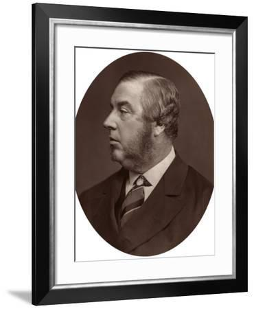 George Sclater-Booth Mp, President of Local Government Board, 1878-Lock & Whitfield-Framed Photographic Print