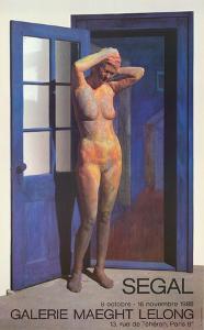 Standing Nude in Doorway by George Segal