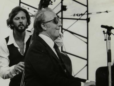 George Shearing and Brian Torff on Stage at the Capital Radio Jazz Festival, Alexandra Palace-Denis Williams-Photographic Print