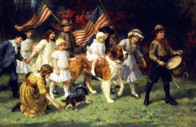 American Parade, 1917 by George Sheridan Knowles