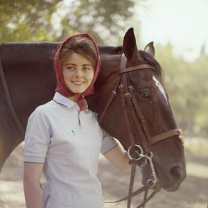 1960: American Dressage Rider, Patricia Galvin with Horse, Rath Patrick, 1960 Rome Olympic Games by George Silk
