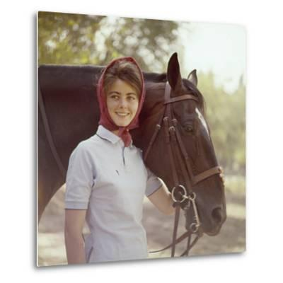 1960: American Dressage Rider, Patricia Galvin with Horse, Rath Patrick, 1960 Rome Olympic Games